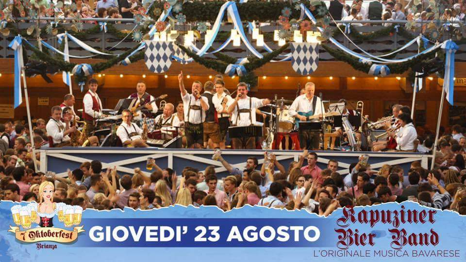Giovedi 23-08 Inaugurazione – Oktoberfest Brianza